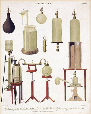 Chemistry Equipment, Early 19th Century Print by Science Photo Library