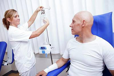 Chemotherapy Photograph - Chemotherapy Treatment by Thomas Fredberg