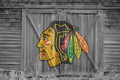 Skates Photograph - Chicago Blackhawks by Joe Hamilton