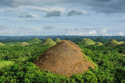 Bizarre Photograph - Chocolate Hills, Bohol, Philippines by Michael Runkel