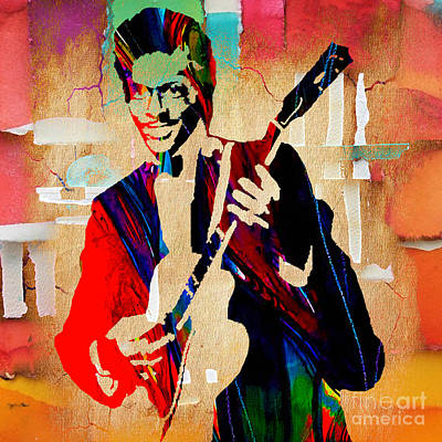 Guitar Mixed Media - Chuck Berry Collection by Marvin Blaine