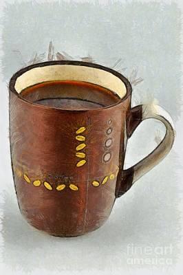 Cup Painting - Coffee by George Atsametakis