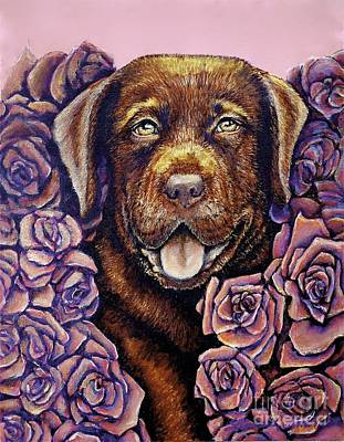 Dog Painting - Cooper by Linda Simon