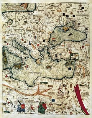 Cresques, Jafuda 1350-1410 Cresques Print by Everett