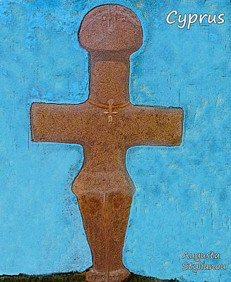 Cyprus Idol Of Pomos Print by Augusta Stylianou