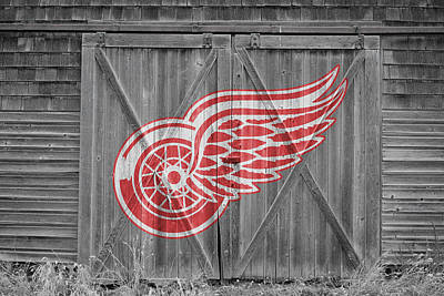 Hockey Sweaters Photograph - Detroit Red Wings by Joe Hamilton