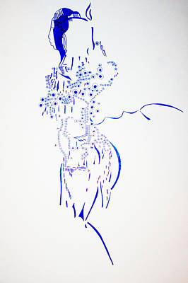 African Ceramics Drawing - Dinka Corset - South Sudan by Gloria Ssali