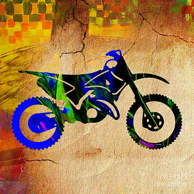 Race Mixed Media - Dirt Bike by Marvin Blaine