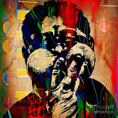 Jazz Mixed Media - Dizzy Gillespie Collection by Marvin Blaine