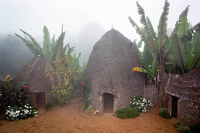 African Huts Photograph - Dorze In The Guge Mountains, Ethiopia by Martin Zwick