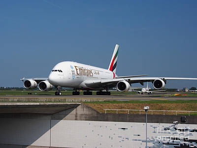 Emirates Airbus A380 Print by Paul Fearn