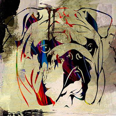Bulldog Mixed Media - English Bulldog by Marvin Blaine