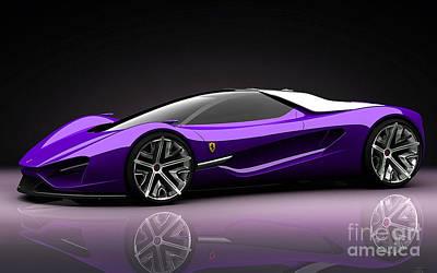 Ferrari Print by Marvin Blaine