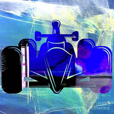 Formula One Race Car Print by Marvin Blaine