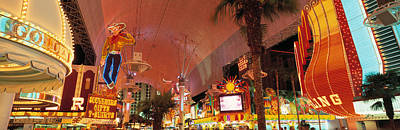 Fremont Street Experience Las Vegas Nv Print by Panoramic Images
