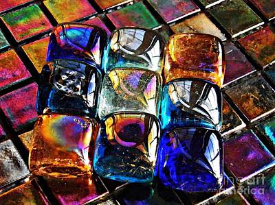 Iridescent Glass Photograph - Glass Abstract 3 by Sarah Loft