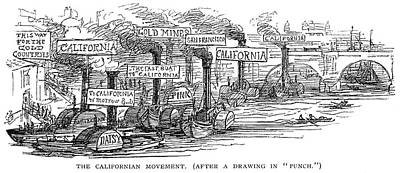 Forty Painting - Gold Rush Cartoon, 1849 by Granger