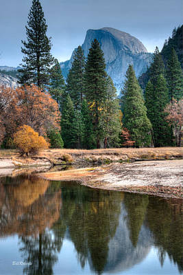 Autumn Landscape Photograph - Half Dome by Bill Roberts