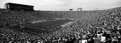 University Of Notre Dame Photograph - High Angle View Of A Football Stadium by Panoramic Images
