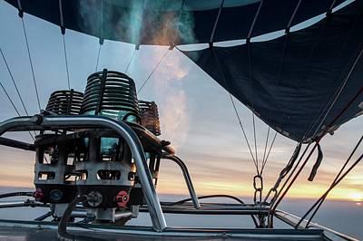 Pleasure Photograph - Hot Air Balloon Gas Burner by Photostock-israel