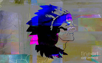 Indian Mixed Media - Indian Chief by Marvin Blaine