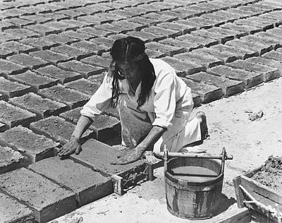 Indians Making Adobe Bricks Print by Underwood Archives Onia