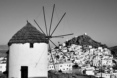 Windmill Photograph - Ios Town by George Atsametakis