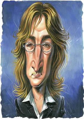 Laugh Painting - John Lennon by Art