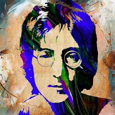 Beatles Mixed Media - John Lennon Painting by Marvin Blaine