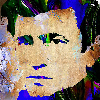 Celebrities Mixed Media - Johnny Cash Collection by Marvin Blaine