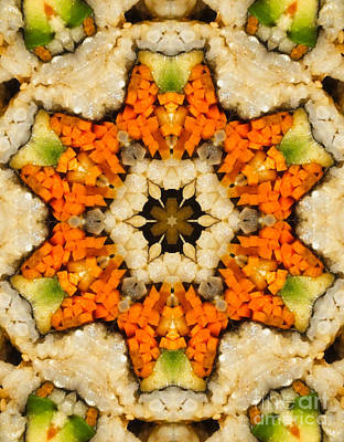 Kaleidoscope Vegetable Sushi Print by Amy Cicconi