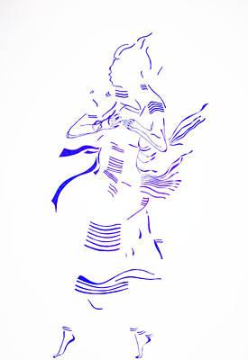 Kiganda Drawing - Kiganda Dance- Uganda by Gloria Ssali