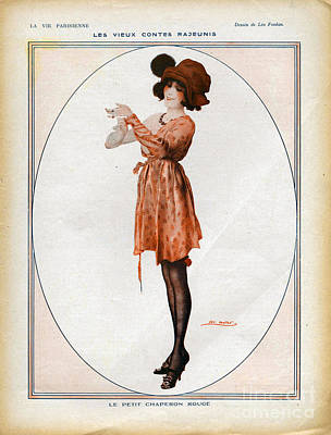 Nineteen-tens Drawing - La Vie Parisienne  1918 1910s France Cc by The Advertising Archives