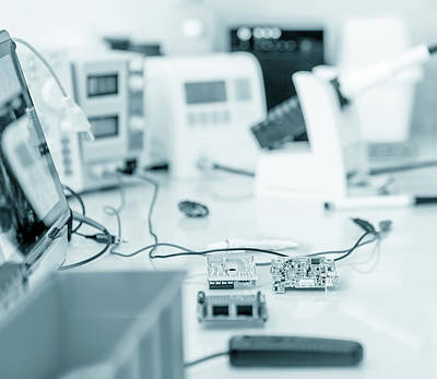 Laboratory Equipment Print by Wladimir Bulgar