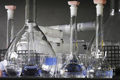 Laboratory Glassware Print by Sigrid Gombert