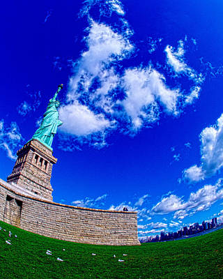 Statue Of Liberty Torch Photograph - Low Angle View Of A Statue, Statue Of by Panoramic Images