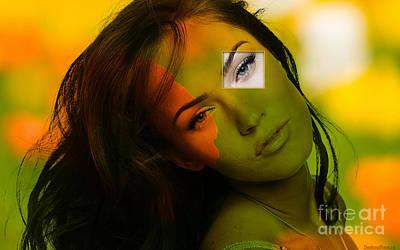 Fox Mixed Media - Megan Fox by Marvin Blaine