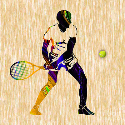 Game Mixed Media - Mens Tennis by Marvin Blaine