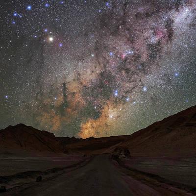 Milky Way Over The Atacama Desert Print by Babak Tafreshi