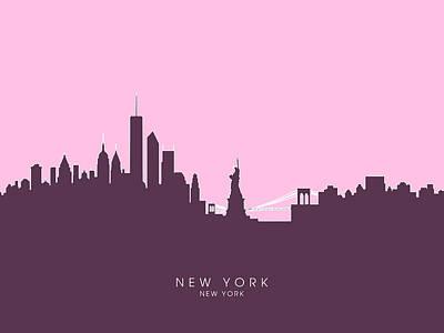 New York Digital Art - New York Skyline by Michael Tompsett