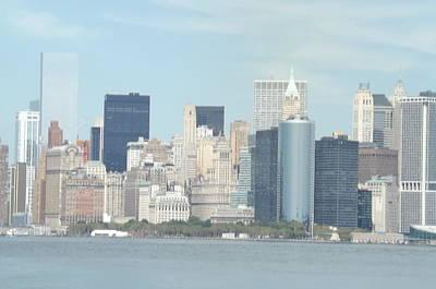 New York Skyline Original by Theresa Crawford