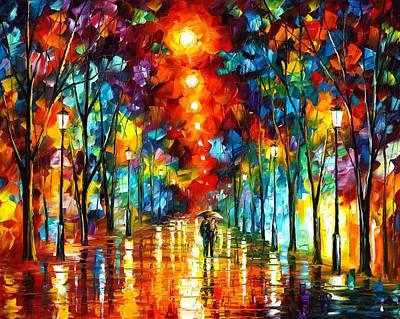 Night Park Print by Leonid Afremov