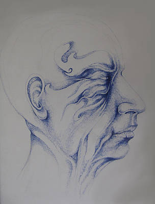 Face Drawing - Old Man by Moshfegh Rakhsha