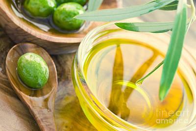 Olive Oil Print by Mythja  Photography