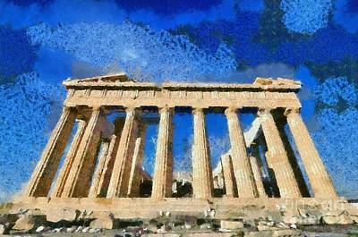 Ancient Painting - Parthenon Temple by George Atsametakis
