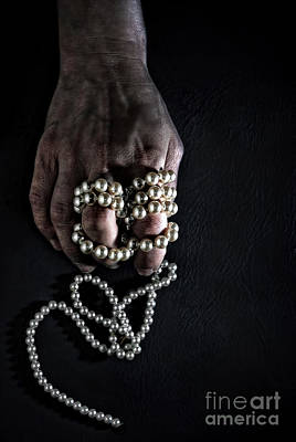 Cool Jewelry Photograph - Pearls by HD Connelly