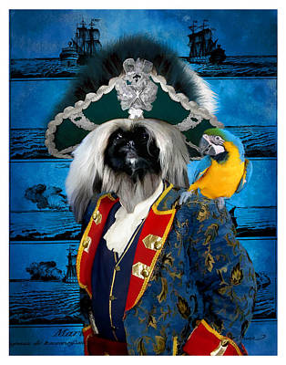 Pekingese Art Canvas Print Print by Sandra Sij