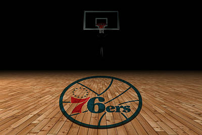 Philadelphia 76ers Print by Joe Hamilton