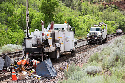 Replacing Photograph - Railway Track Maintenance by Jim West
