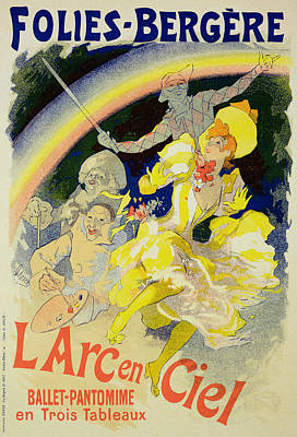 Reproduction Of A Poster Advertising Print by Jules Cheret